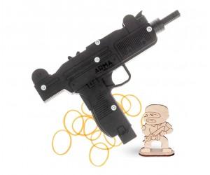 Резинкострел ARMA макет пистолета-пулемета «Узи»