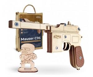 Резинкострел ARMA макет пистолета Mauser C96