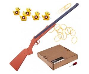 Резинкострел ARMA макет двуствольного ружья, превращается в обрез