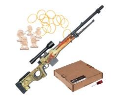 Резинкострел ARMA макет снайперской винтовки AWP Dragon lore из игры CS:GO