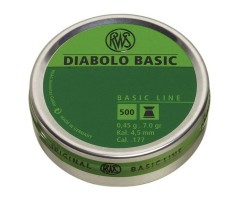 Пули RWS Diabolo Basic 4,5 мм, 0,45 грамм, 500 штук