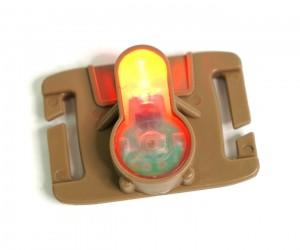 Тактический сигнальный маячок для шлема WoSport MOLLE LT-06 Tan Red