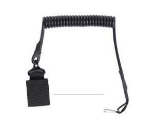 Шнур страховочный спиральный для пистолета Black