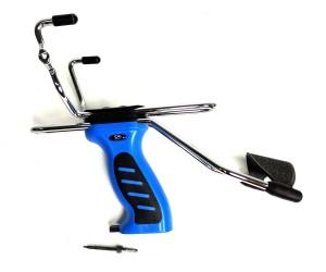|Уценка| Рогатка Man Kung MK-SL06, с упором и магазином, синяя (№ MK-SL06/BL-181-уц)