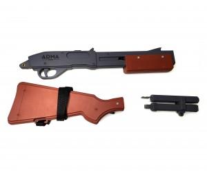 |Уценка| Резинкострел ARMA макет дробовика Remington 870, длинный (№ AT026-189-уц)
