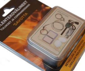Карманный набор для выживания в лесу Savotta, металл. коробка (361010)