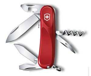 Нож складной Victorinox Evolution 10 2.3803.E (85 мм, красный)