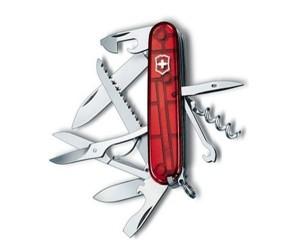 Нож складной Victorinox Huntsman 1.3713.T (91 мм, полупрозрачный красный)