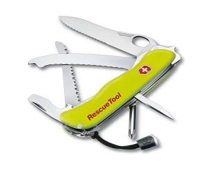 Нож спасателя Victorinox Rescue Tool 0.8623.MWN (111 мм, желтый, с чехлом)