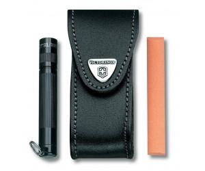Чехол Victorinox 4.0520.31 (кожа, для ножей 91 мм, с поворотной клипсой)