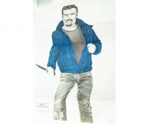 Мишень «Хулиган с ножом» (1x1,5 м)