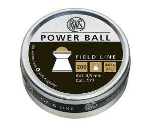 Пули RWS Power Ball 4,5 мм, 0,61 грамм, 200 штук