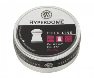 Пули RWS Hyperdome 4,5 мм, 0,36 грамм, 200 штук