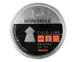 Пули RWS Hypermax 4,5 мм, 0,34 грамм, 200 штук