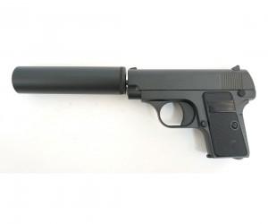 Страйкбольный пистолет Galaxy G.1A (Colt 25) с глушителем