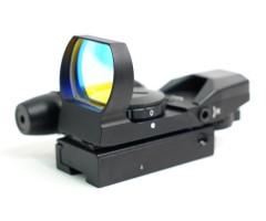 Коллиматорный прицел Sightmark Laser Dual Shot, панорамный с ЛЦУ, 4 марки, на 11 мм (SM13002-DT)