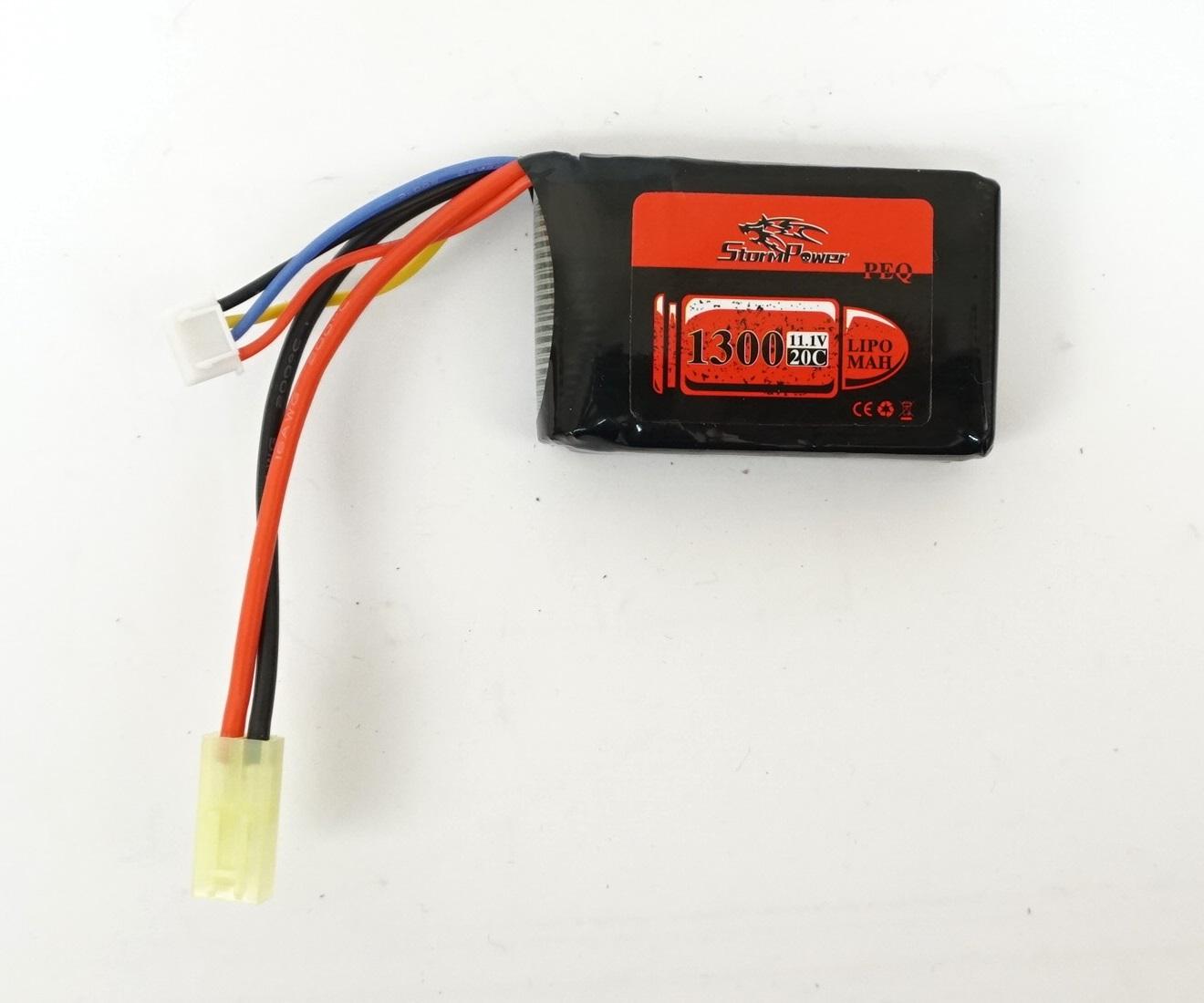 Аккумулятор Storm Power Li-Po 11.1V 1300mah 20C, 66x42x17 мм (SP-030)
