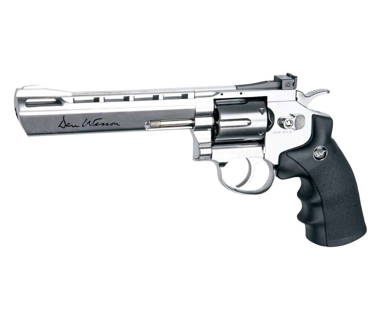 """Пневматический револьвер ASG Dan Wesson 6"""" Silver (пулевой) купить! Цена в Москве, СПБ"""