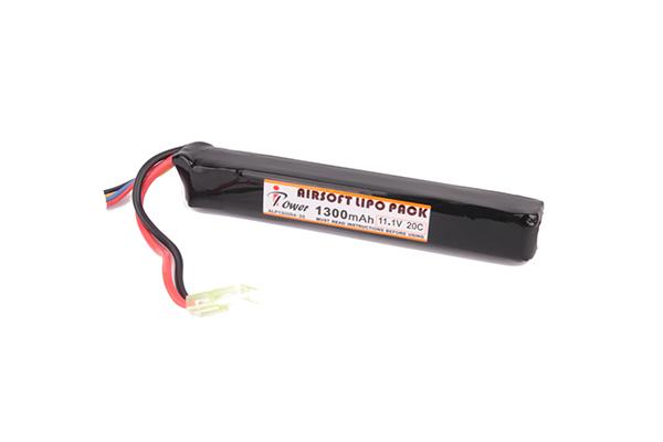 Аккумулятор iPower Li-po 1300H20C mAh 11.1V стик