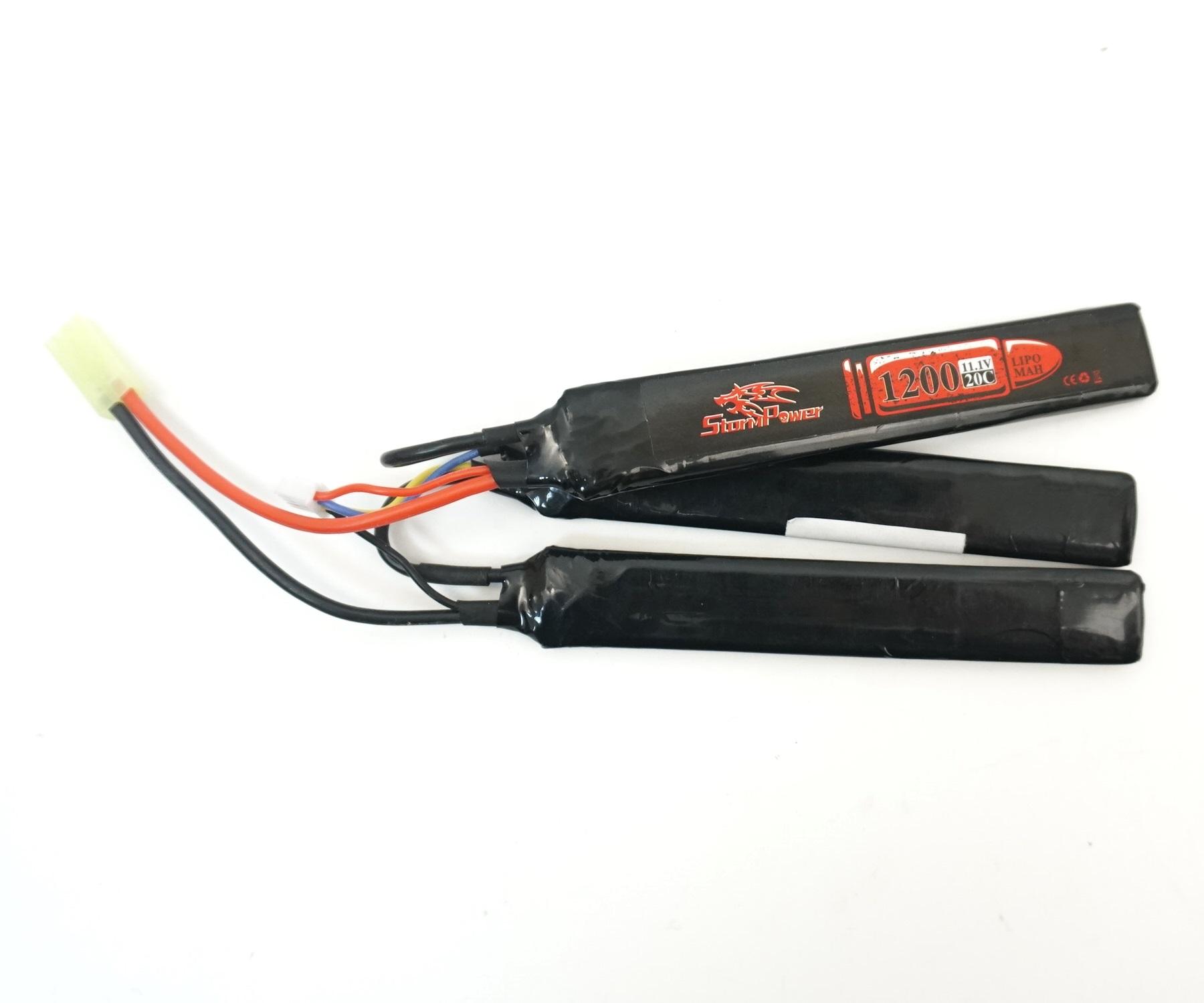 Аккумулятор Storm Power Li-Po 11.1V 1200mah 20C, 3 x (126x20x6) мм (SP-016)