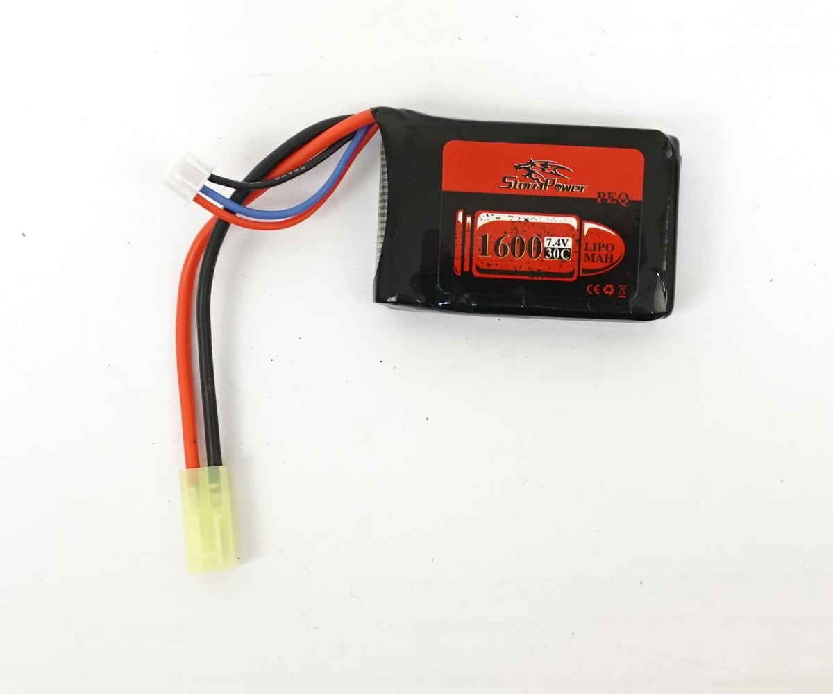 Аккумулятор Storm Power Li-Po 7.4V 1600mah 30C, 66x42x16 мм (SP-031)