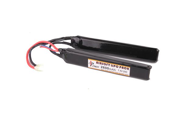 Аккумулятор iPower Li-po 2600H20C mAh 7.4V двухлепестковый