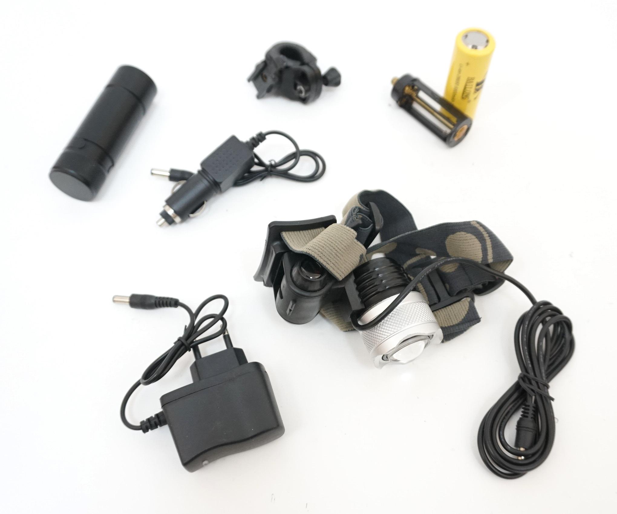 Велосипедный налобный фонарь D823-T6, 3 режима (BH-FL07)