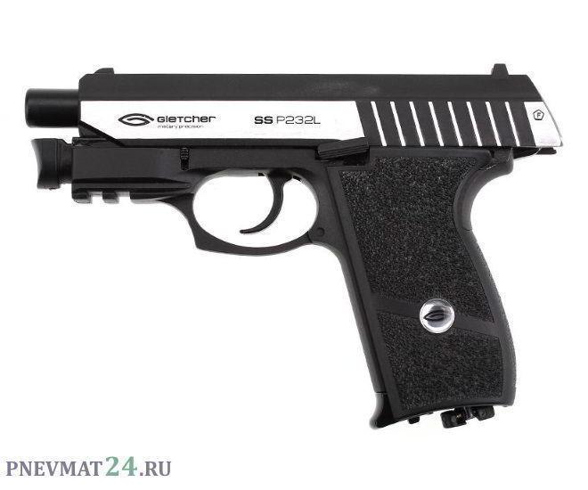 Пневматический пистолет Gletcher SS P232L, с ЛЦУ