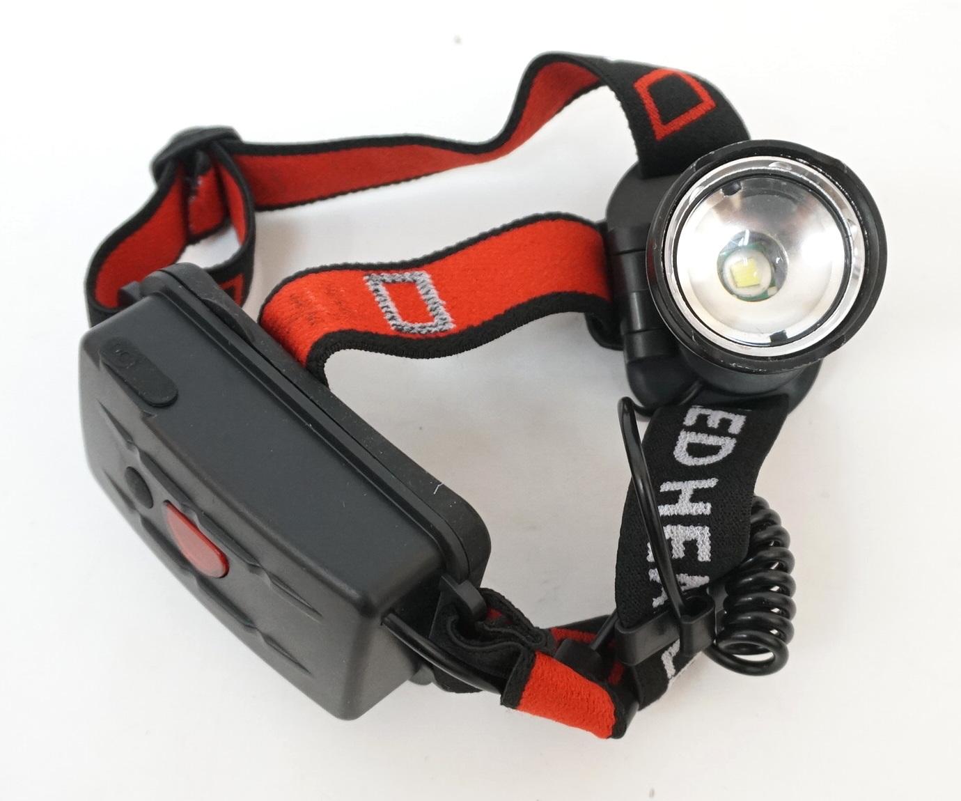 Аккумуляторный налобный фонарь FL070, 3 режима, зум