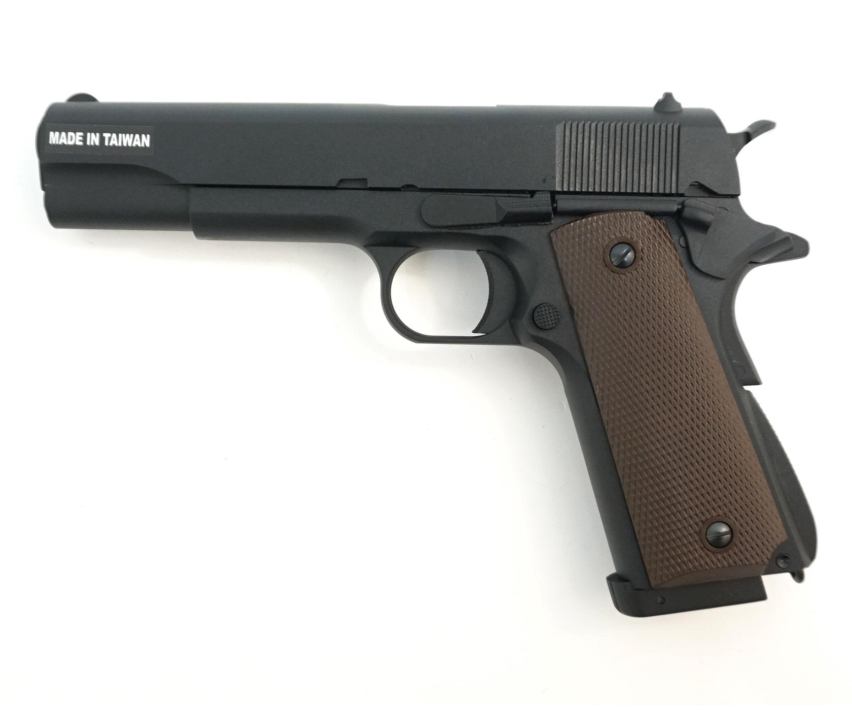 Страйкбольный пистолет KJW Colt M1911A1 CO₂ GBB (1911.CO2) купить! Цена в Москве, СПБ
