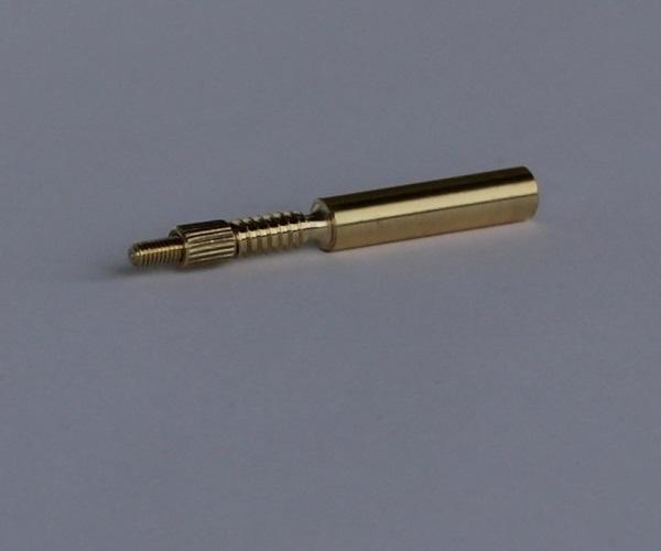 Адаптер-иголка A2S GUN №3 (латунь, резьба мама, дюймовая, 5/40 и  резьба папа М5, для StilCrin, MegaLine, Nimar)