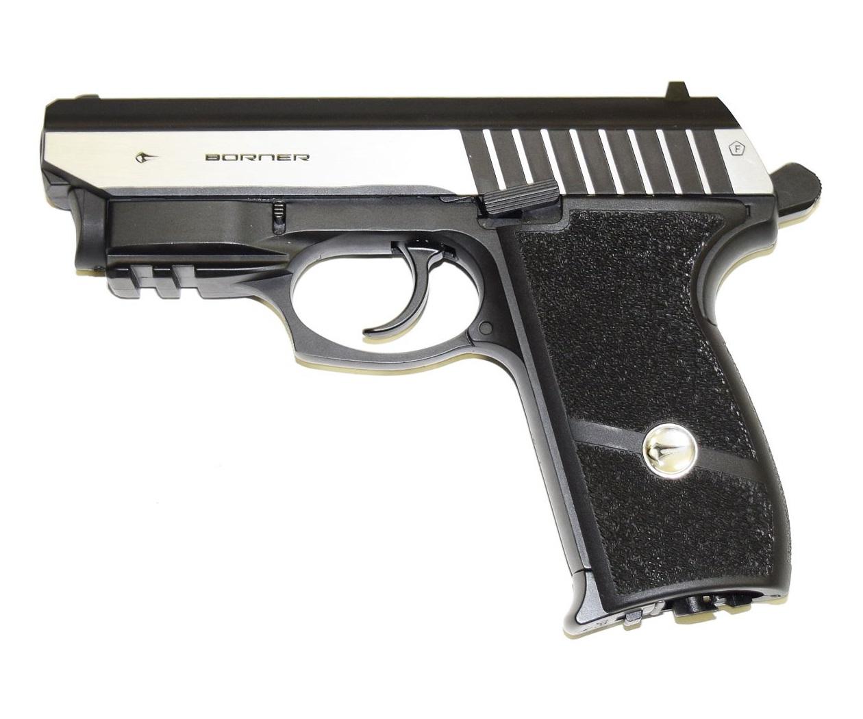 Пневматический пистолет Borner Panther 801, с ЛЦУ купить! Цена в Москве, СПБ