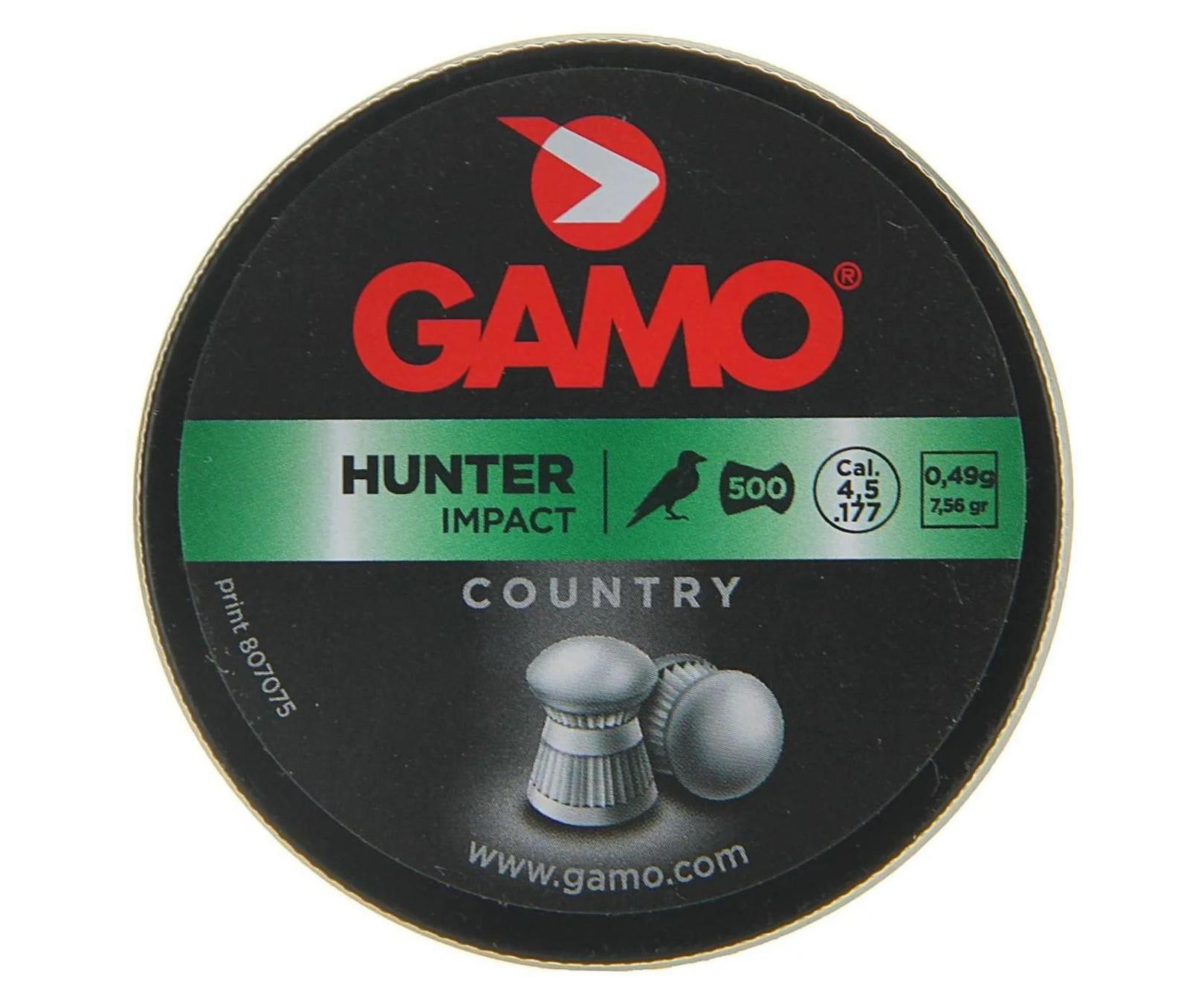 Пули Gamo Hunter 4,5 мм, 0,49 грамм, 500 штук