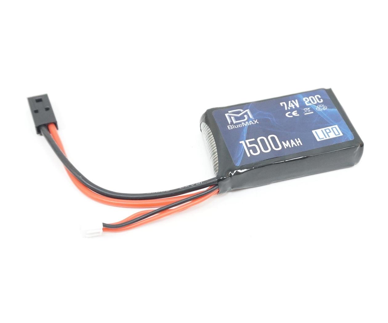 Аккумулятор BlueMAX Li-Po 7.4V 1500mah 20C, 65x43x16 мм (стик) для PEQ/AN-15