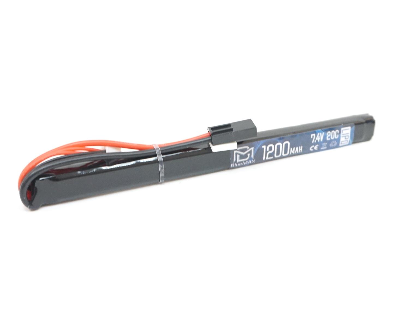 Аккумулятор BlueMAX Li-Po 7.4V 1200mah 20C, 185x17x11,5 мм (стик)