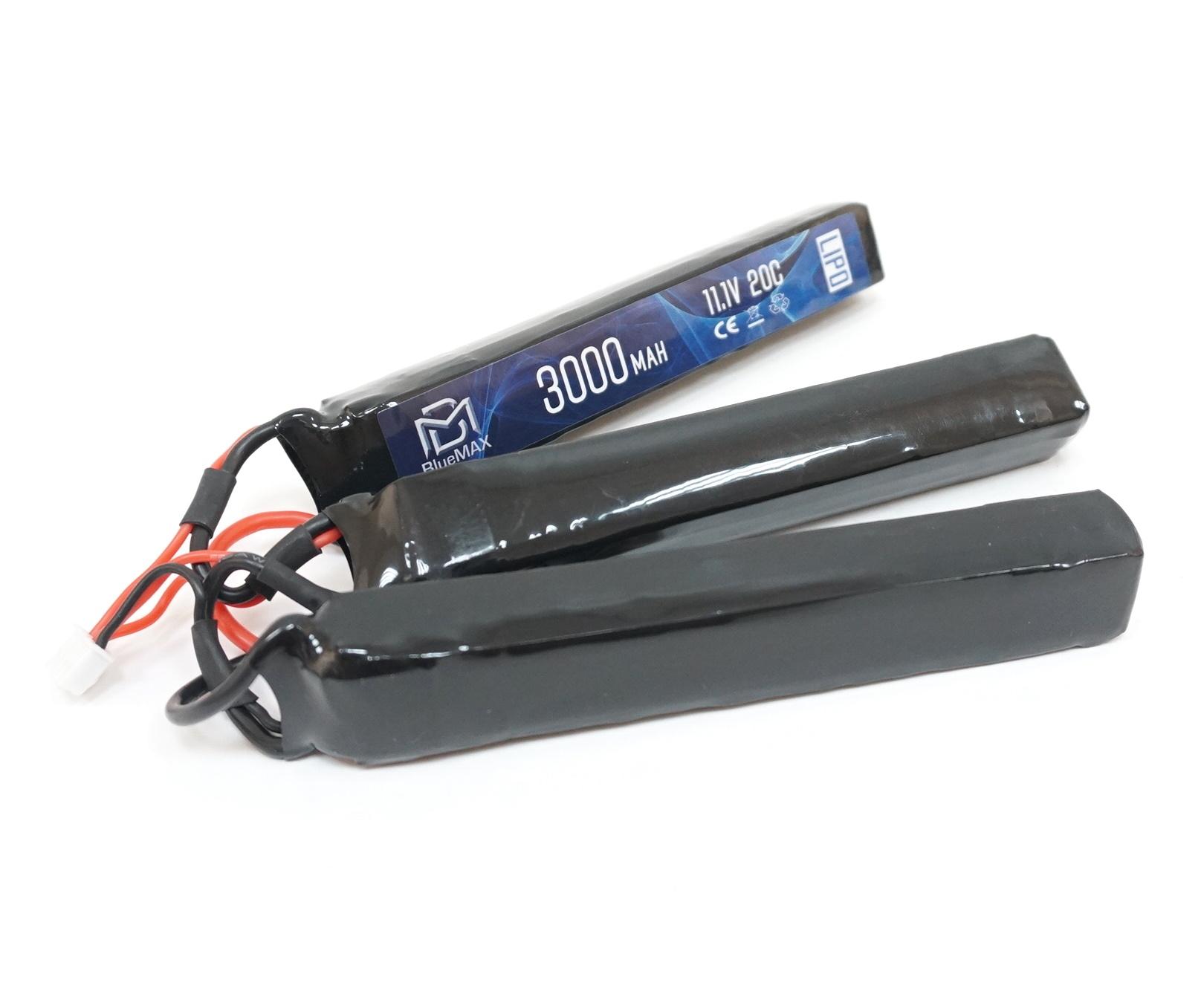 Аккумулятор BlueMAX Li-Po 11.1V 3000mah 20C, 3 x (128x25x17,6) мм (триплет)