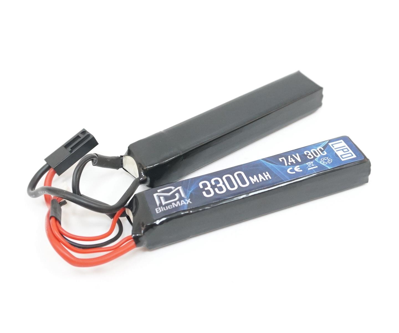 Аккумулятор BlueMAX Li-Po 7.4V 3300mah 20C, 2 x (128x21x19) мм (нунчаки)