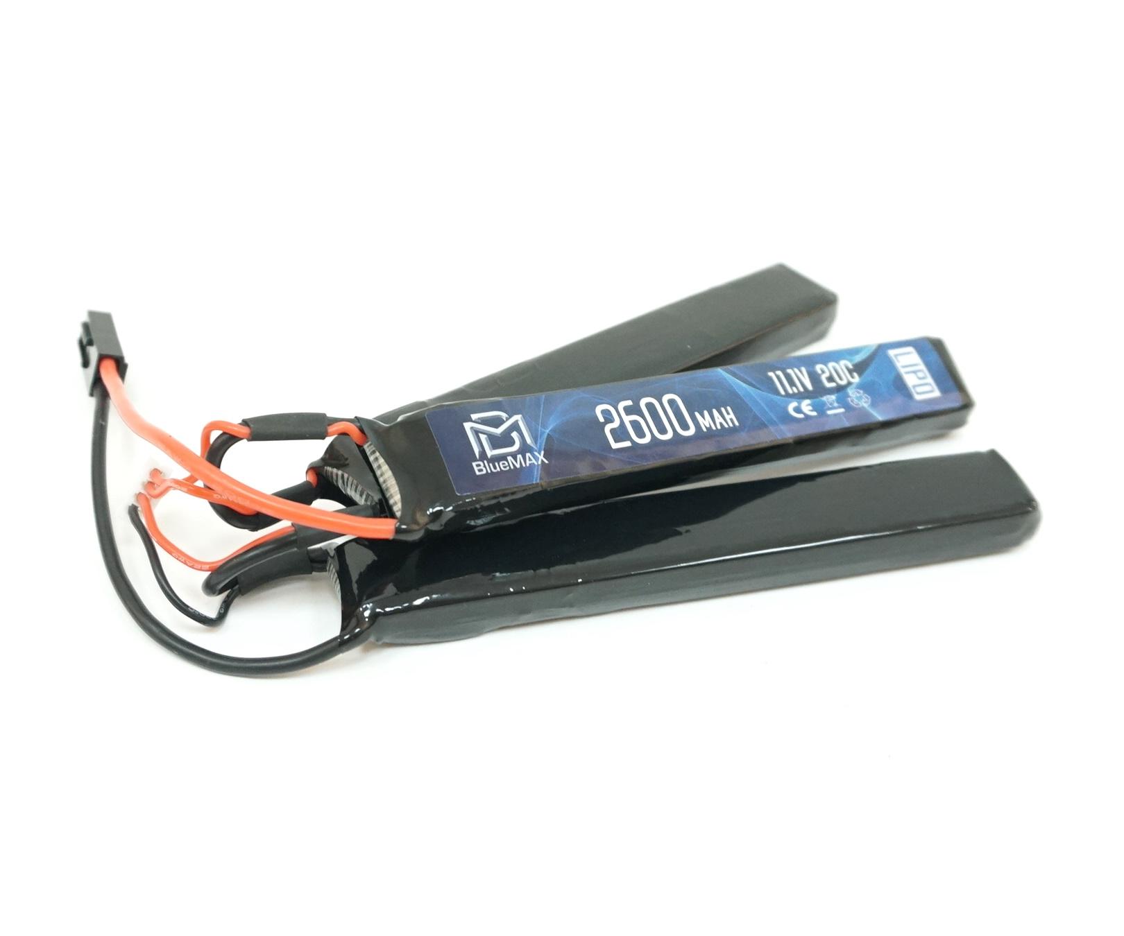 Аккумулятор BlueMAX Li-Po 11.1V 2600mah 20C, 3 x (128x20x10) мм (триплет)