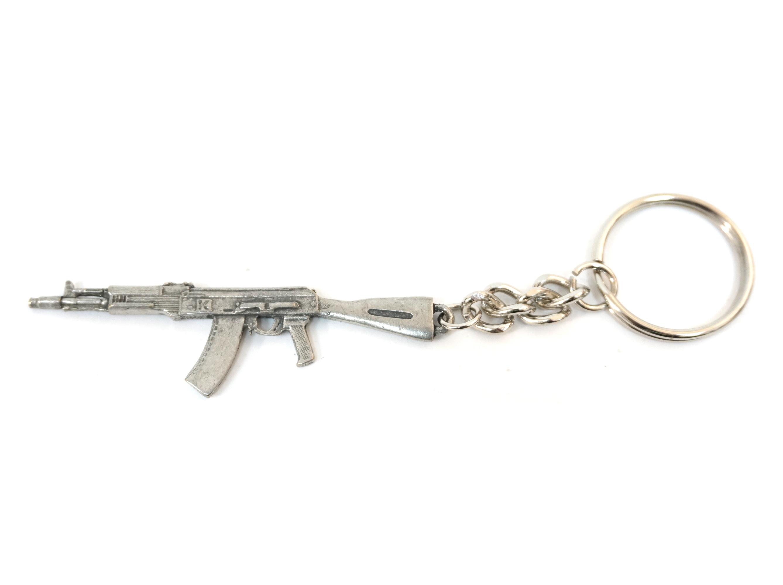 Брелок автомат АК-105 (серебро)