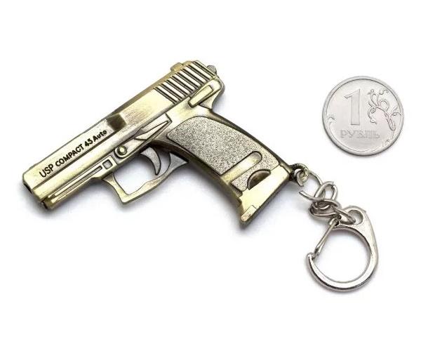 Брелок Microgun S пистолет HK USP 45 (Gold edition)