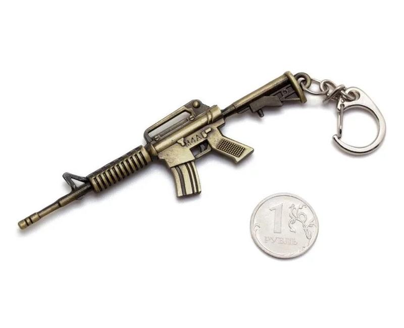 Брелок Microgun S автомат Colt M4A1 (Gold edition)
