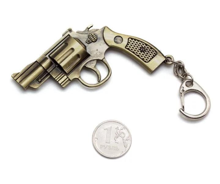 Брелок Microgun S револьвер Smith and Wesson M36 (Gold Edition)