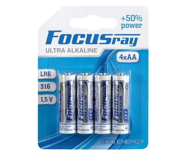 Батарейки пальчиковые FocusRay Ultra Alkaline LR6/BL4U 1.5V (4 x AA)