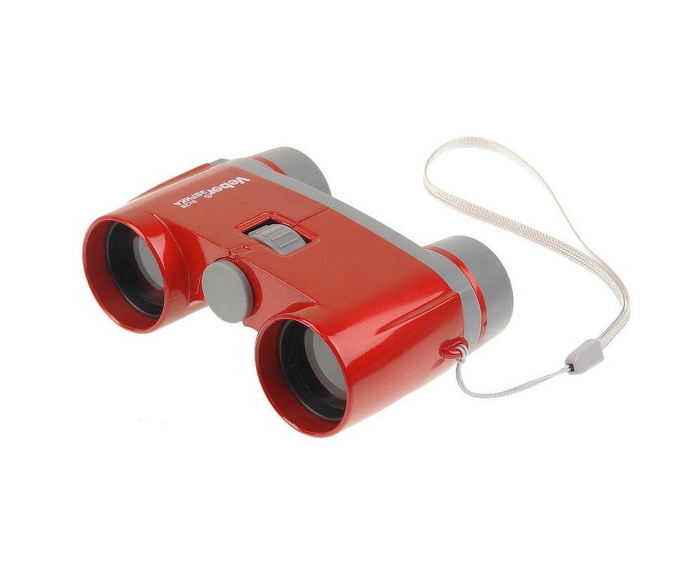 Бинокль Veber Эврика 3х28R, цвет - красный