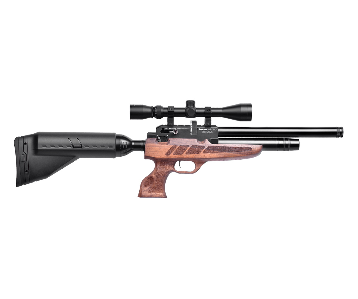 Пневматический пистолет-винтовка Kral Puncher NP-04 Auto (орех, PCP)