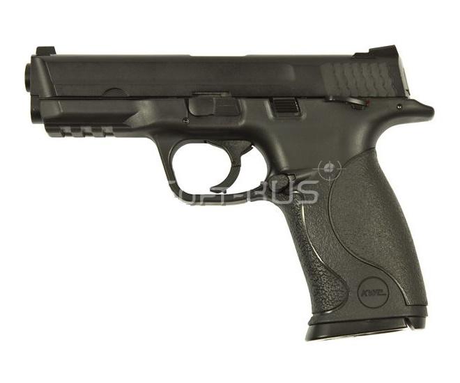 Страйкбольный пистолет KWC Smith&Wesson M&P 9 CO2 GBB (KCB-48AHN)