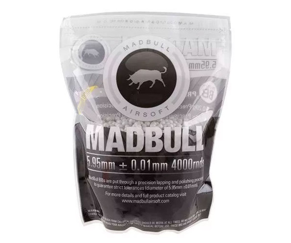Шары для страйкбола Madbull 0,25 г, 4000 штук (1 кг, белые)