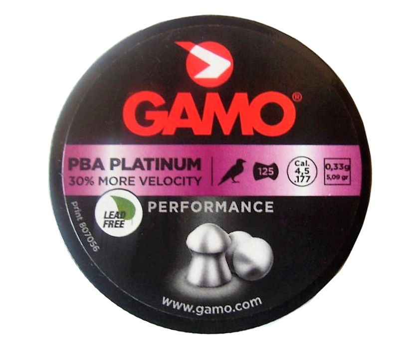 Пули Gamo PBA Platinum 4,5 мм, 125 штук