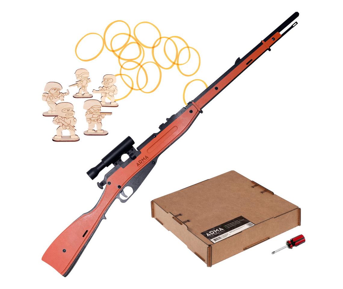 Резинкострел ARMA макет винтовки Мосина с прицелом и штыком