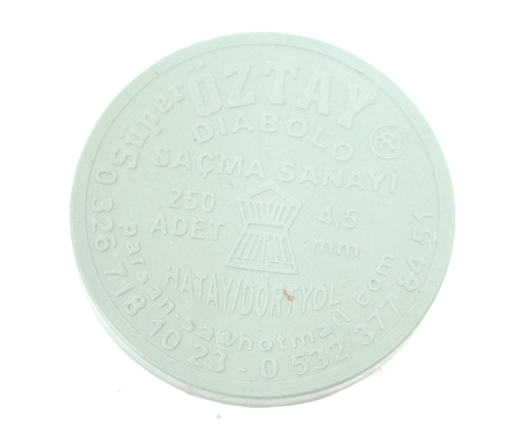 Пули Super Oztay Diabolo 4,5 мм, 0,49-0,52 грамм, 250 штук купить! Цена в Москве, СПБ